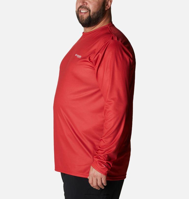 Terminal Tackle PFG Fish Flag™ LS | 696 | 1X Men's Terminal Tackle PFG Fish Flag™ Long Sleeve Shirt - Big, Red Spark, White, a1