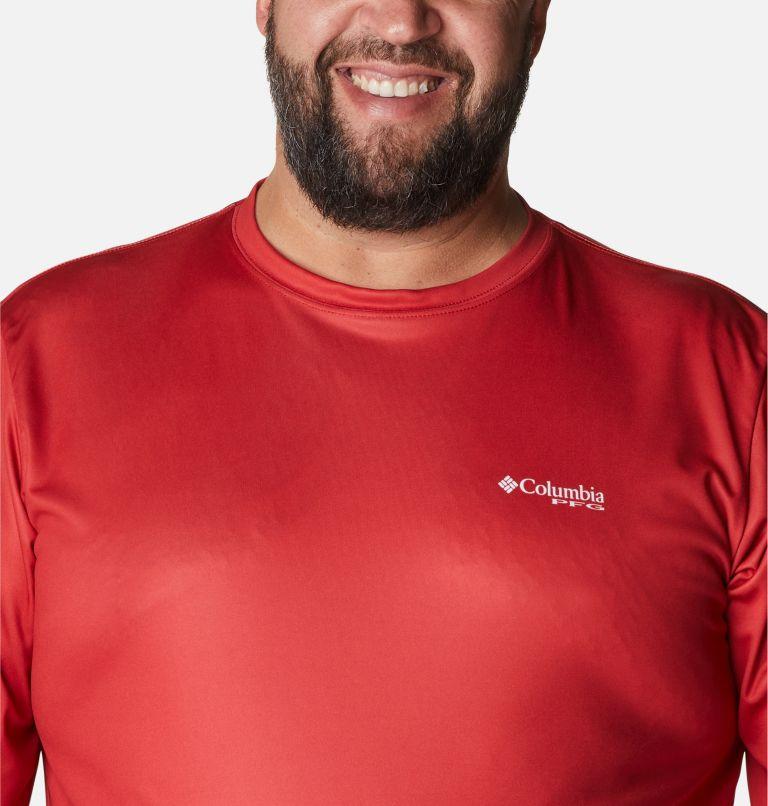 Terminal Tackle PFG Fish Flag™ LS | 696 | 1X Men's Terminal Tackle PFG Fish Flag™ Long Sleeve Shirt - Big, Red Spark, White, a2