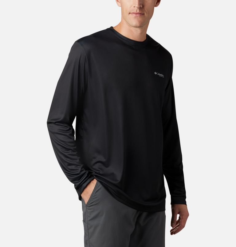 Terminal Tackle PFG Fish Flag™ LS | 012 | 4XT Men's Terminal Tackle PFG Fish Flag™ Long Sleeve Shirt - Tall, Black, Graphite, a3