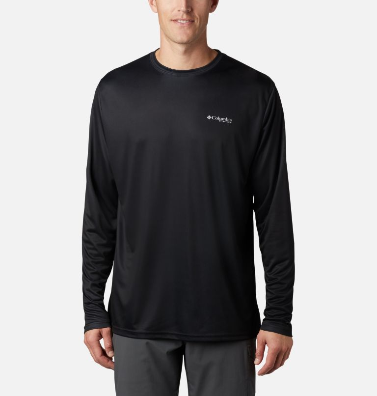 Terminal Tackle PFG Fish Flag™ LS | 012 | 4XT Men's Terminal Tackle PFG Fish Flag™ Long Sleeve Shirt - Tall, Black, Graphite, back