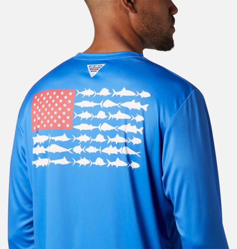 Men's Terminal Tackle PFG Fish Flag™ Long Sleeve Shirt - Tall Men's Terminal Tackle PFG Fish Flag™ Long Sleeve Shirt - Tall, a3