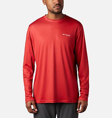 Men's Terminal Tackle PFG Fish Flag™ Long Sleeve Shirt - Tall Terminal Tackle PFG Fish Flag™ LS | 696 | 5XT, Red Spark, White, back