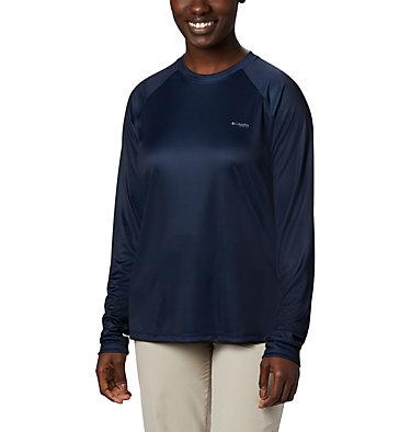 Women's Tidal Tee PFG Printed Triangle™ Long Sleeve Shirt Tidal Tee PFG Printed Triangle™ LS | 357 | L, Collegiate Navy, Tropical Print, back