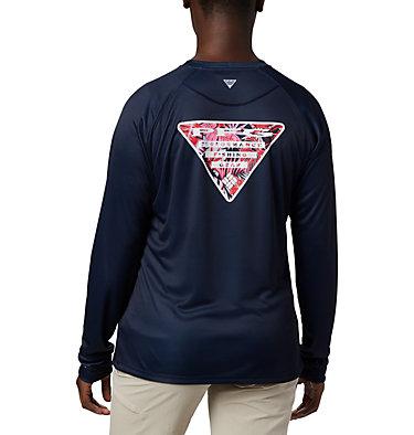 Women's Tidal Tee PFG Printed Triangle™ Long Sleeve Shirt Tidal Tee PFG Printed Triangle™ LS | 357 | L, Collegiate Navy, Tropical Print, front
