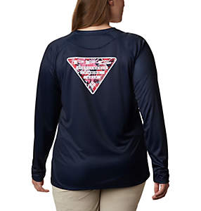 Women's Tidal Tee PFG Printed Triangle™ Long Sleeve Shirt - Plus Size