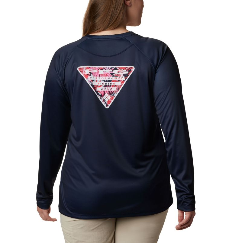 Women's Tidal Tee PFG Printed Triangle™ Long Sleeve Shirt - Plus Size Women's Tidal Tee PFG Printed Triangle™ Long Sleeve Shirt - Plus Size, front