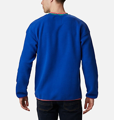 Pull en Polaire Wapitoo™ Homme Wapitoo™ Fleece Pullover | 011 | L, Lapis Blue, Bright Geranium, back