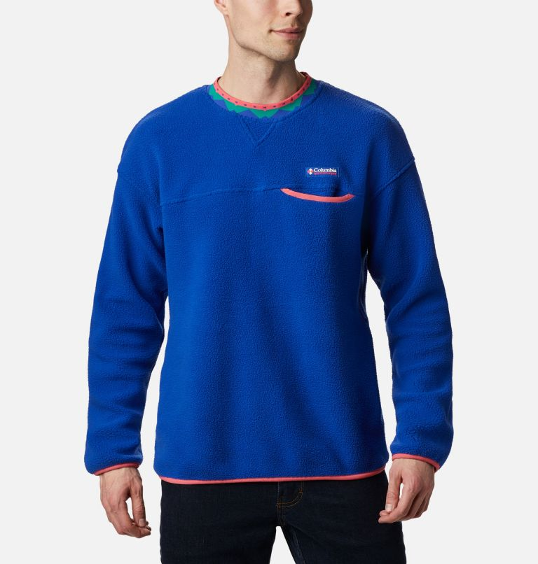 Wapitoo™ Fleece Pullover | 410 | XXL Men's Wapitoo™ Fleece Pullover, Lapis Blue, Bright Geranium, front