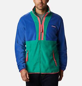 Manteau à fermeture éclair en laine polaire Back Bowl pour homme