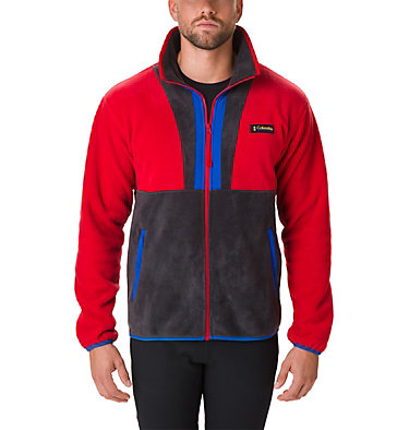Men's Back Bowl™ Fleece Back Bowl™ Full Zip Fleece | 494 | XL, Mountain Red, Black, Azul, front