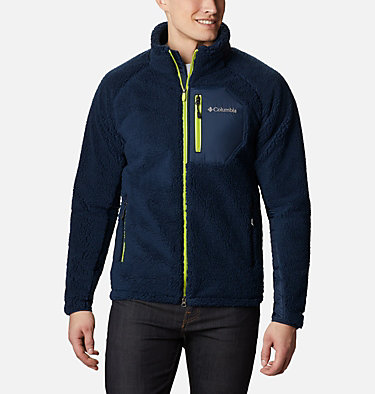 Men's Archer Ridge™ Sherpa Fleece Jacket Archer Ridge™ Jacket | 010 | M, Collegiate Navy, Bright Chartreuse, front