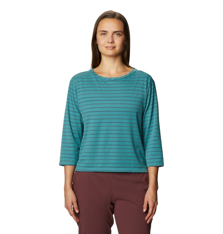 Everyday Perfect™ 3/4 T | 447 | XS Women's Everyday Perfect™ 3/4 T-Shirt, Washed Turq, front
