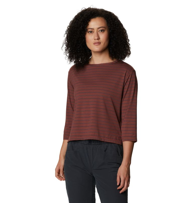 Everyday Perfect™ 3/4 T | 643 | L Women's Everyday Perfect™ 3/4 T-Shirt, Clay Earth, front