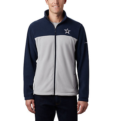 Men's Flanker™ III Full Zip Fleece Jacket - Dallas Cowboys NFL Flanker™ III Full Zip Fleece | 464 | L, DC - Collegiate Navy, Columbia Grey, front