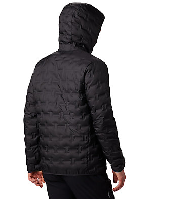 Men's Delta Ridge Down Hooded Jacket Delta Ridge™ Down Hooded Jacke | 010 | L, Black, back