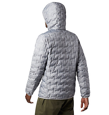 Men's Delta Ridge™ Down Hooded Jacket Delta Ridge™ Down Hooded Jacke | 010 | L, Columbia Grey Heather, back