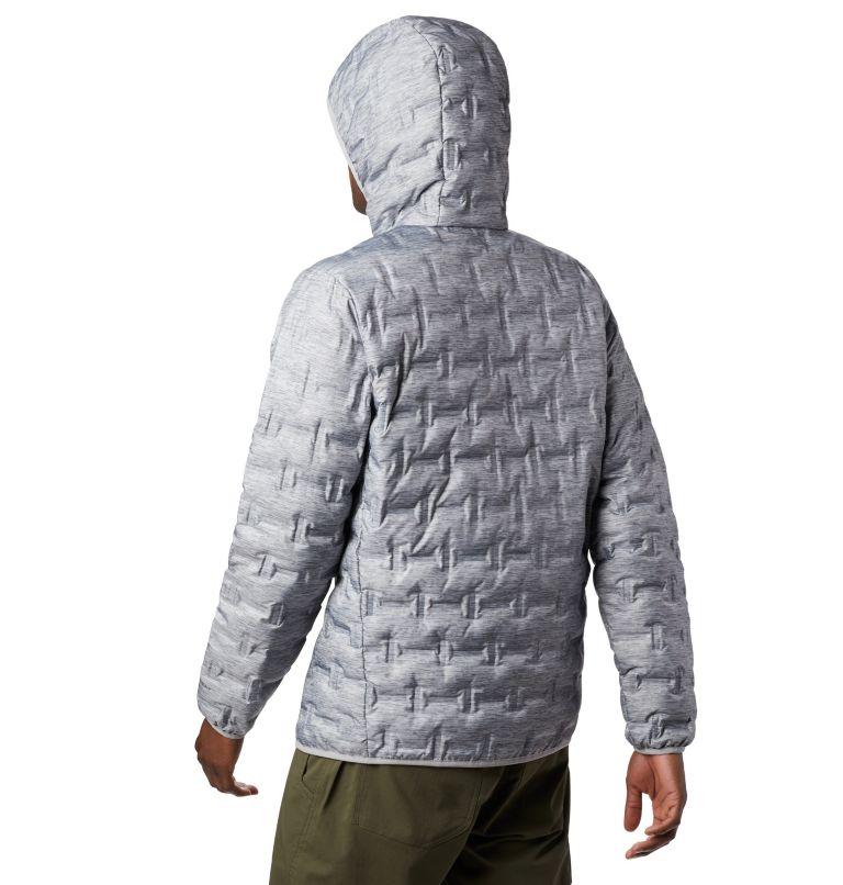 Delta Ridge™ Down Hooded Jacke   039   XL Men's Delta Ridge™ Down Hooded Jacket, Columbia Grey Heather, back