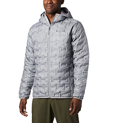 Men's Delta Ridge™ Down Hooded Jacket Delta Ridge™ Down Hooded Jacke | 010 | L, Columbia Grey Heather, front