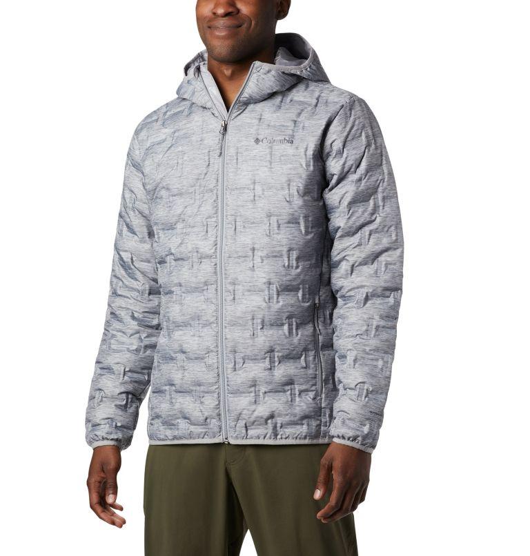 Delta Ridge™ Down Hooded Jacke   039   XL Men's Delta Ridge™ Down Hooded Jacket, Columbia Grey Heather, front