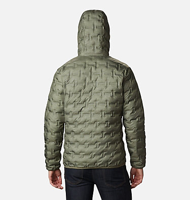 Men's Delta Ridge Down Hooded Jacket Delta Ridge™ Down Hooded Jacke | 010 | L, Stone Green Heather Print, back