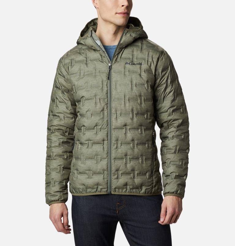 Delta Ridge™ Down Hooded Jacket | 397 | L Doudoune À Capuche Delta Ridge Homme, Stone Green Heather Print, front