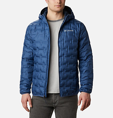 Men's Delta Ridge Down Hooded Jacket Delta Ridge™ Down Hooded Jacke | 010 | L, Night Tide, front