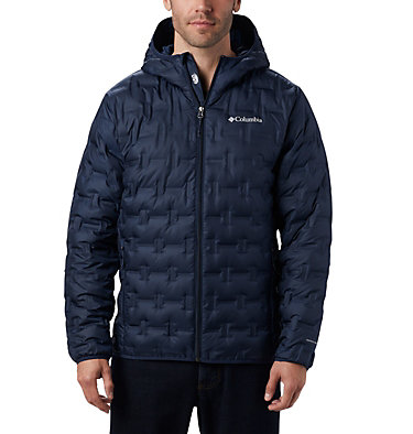 Men's Delta Ridge™ Down Hooded Jacket Delta Ridge™ Down Hooded Jacke | 010 | L, Collegiate Navy, front