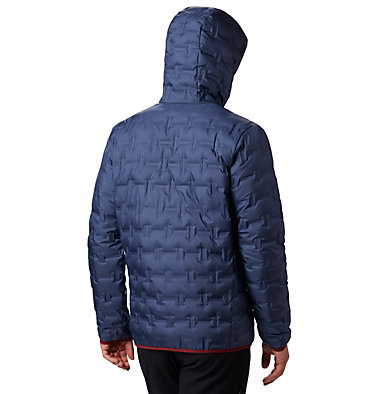 Men's Delta Ridge Down Hooded Jacket Delta Ridge™ Down Hooded Jacke | 010 | L, Dark Mountain, back