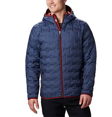 Men's Delta Ridge Down Hooded Jacket Delta Ridge™ Down Hooded Jacke | 010 | L, Dark Mountain, front