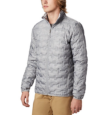 Men's Delta Ridge™ Down Jacket Delta Ridge™ Down Jacket | 664 | L, Columbia Grey Heather, front