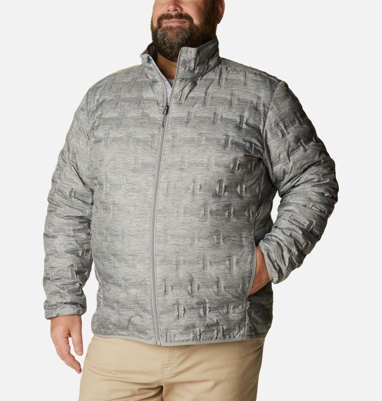 Delta Ridge™ Down Jacket | 039 | 2X Men's Delta Ridge™ Down Jacket - Big, Columbia Grey Heather, front