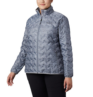 Women's Delta Ridge™ Down Jacket - Plus Size Delta Ridge™ Down Jacket | 671 | 2X, Tradewinds Grey Heather, front