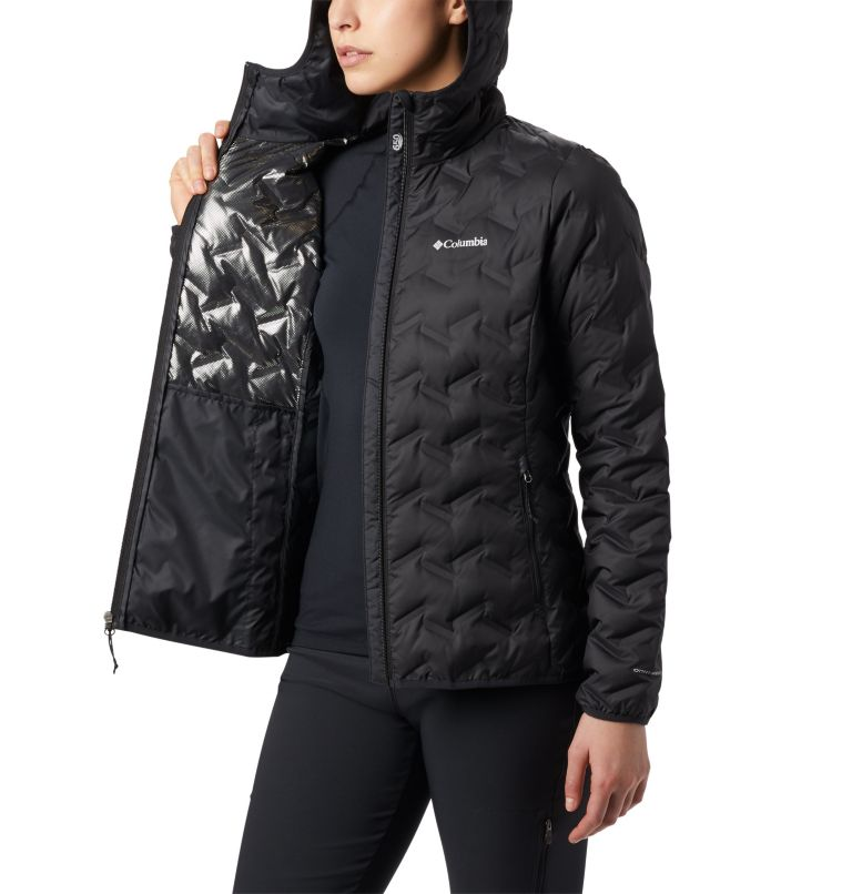 Delta Ridge™ Down Hooded Jacket | 010 | S Women's Delta Ridge™ Down Hooded Jacket, Black, a4