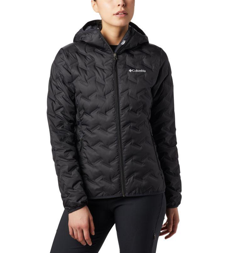 Delta Ridge™ Down Hooded Jacket | 010 | S Women's Delta Ridge™ Down Hooded Jacket, Black, front