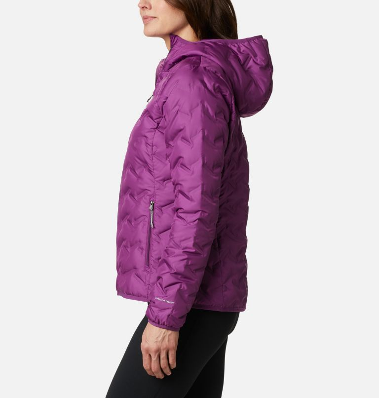Delta Ridge™ Down Hooded Jacket | 575 | XXL Women's Delta Ridge™ Down Hooded Jacket, Plum, a1