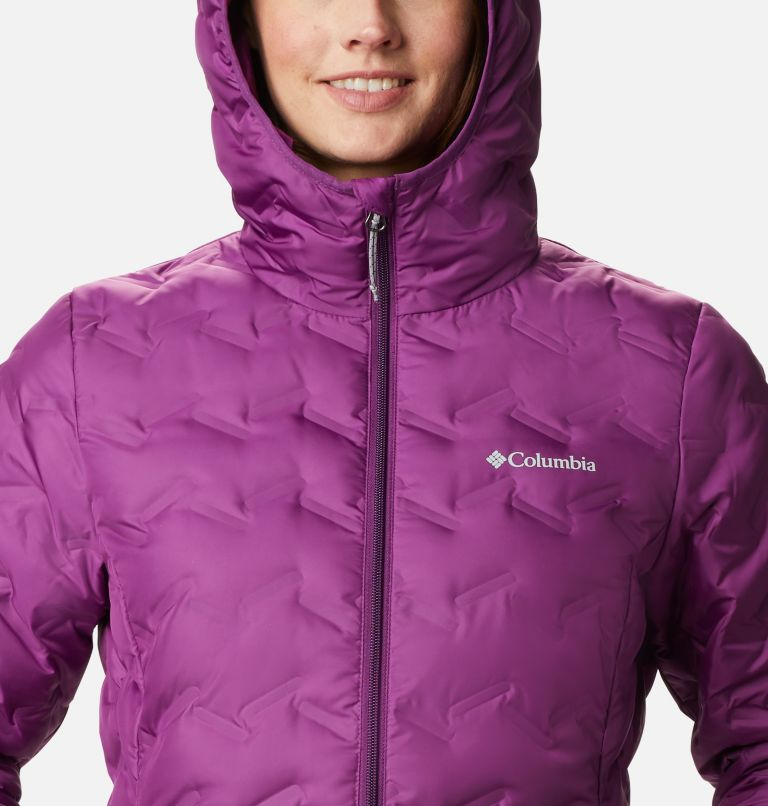 Delta Ridge™ Down Hooded Jacket | 575 | XXL Women's Delta Ridge™ Down Hooded Jacket, Plum, a2