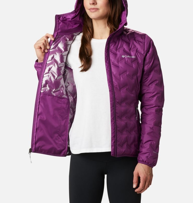 Delta Ridge™ Down Hooded Jacket | 575 | XXL Women's Delta Ridge™ Down Hooded Jacket, Plum, a3