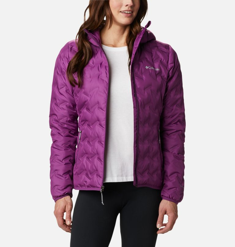 Delta Ridge™ Down Hooded Jacket | 575 | XXL Women's Delta Ridge™ Down Hooded Jacket, Plum, front