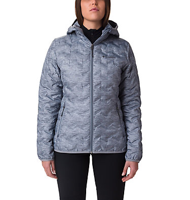 Doudoune À Capuche Delta Ridge Femme Delta Ridge™ Down Hooded Jacke | 010 | L, Tradewinds Grey Heather, front