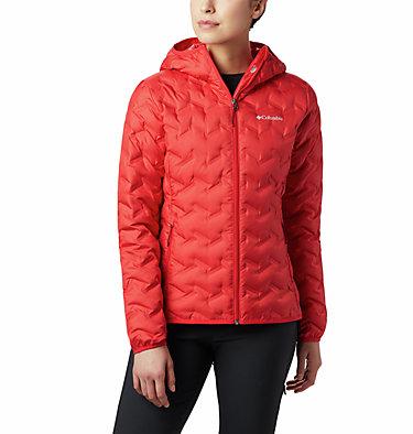 Women's Delta Ridge Down Hooded Jacket Delta Ridge™ Down Hooded Jacke | 010 | L, Red Lily, front