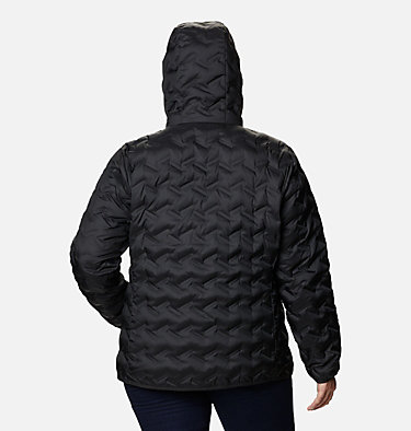 Women's Delta Ridge™ Down Hooded Jacket - Plus Size Delta Ridge™ Down Hooded Jacket | 658 | 2X, Black, back