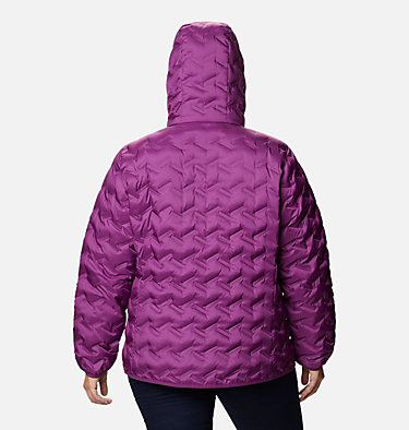 Women's Delta Ridge™ Down Hooded Jacket - Plus Size Delta Ridge™ Down Hooded Jacket | 658 | 2X, Plum, back