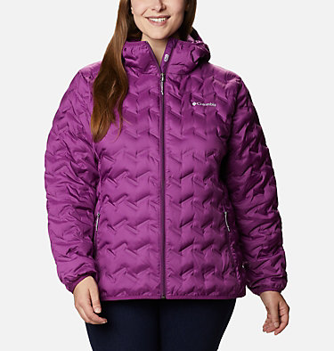 Women's Delta Ridge™ Down Hooded Jacket - Plus Size Delta Ridge™ Down Hooded Jacket | 658 | 2X, Plum, front
