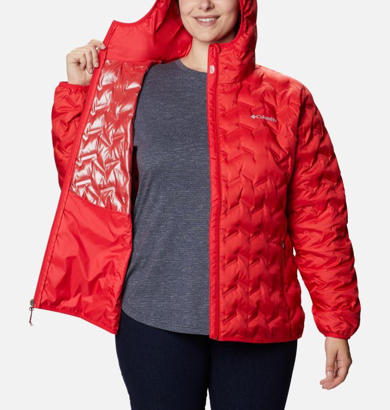 Delta Ridge™ Down Hooded Jacket | 658 | 3X Women's Delta Ridge™ Down Hooded Jacket - Plus Size, Red Lily, a3