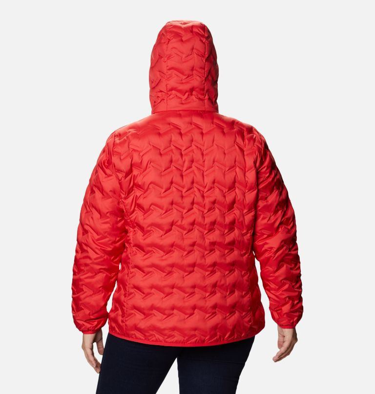 Delta Ridge™ Down Hooded Jacket | 658 | 3X Women's Delta Ridge™ Down Hooded Jacket - Plus Size, Red Lily, back