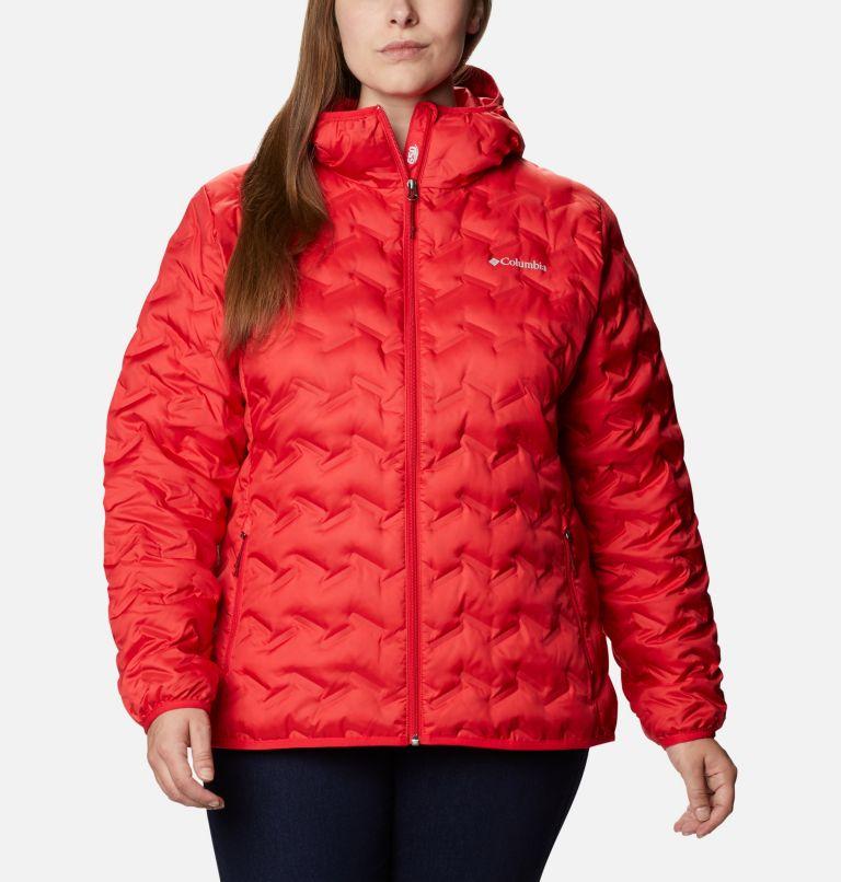 Delta Ridge™ Down Hooded Jacket | 658 | 3X Women's Delta Ridge™ Down Hooded Jacket - Plus Size, Red Lily, front