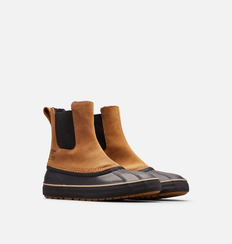 CHEYANNE™ METRO CHELSEA WP | 286 | 10 Men's Cheyanne™ Metro Chelsea Boot, Elk, Black, 3/4 front