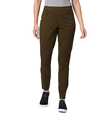 Women's Pinnacle Peak™ Colored Twill Leggings Pinnacle Peak™ Colored Twill L | 522 | L, Olive Green, front