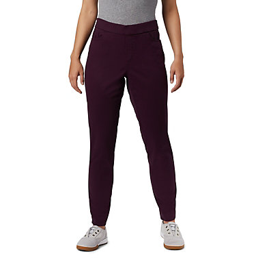 Women's Pinnacle Peak™ Colored Twill Leggings Pinnacle Peak™ Colored Twill L | 522 | L, Black Cherry, front