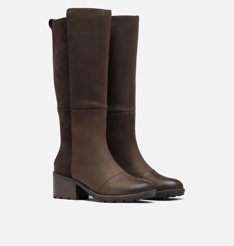 CATE™ TALL | 205 | 8.5 Women's Cate™ Tall Boot, Blackened Brown, 3/4 front